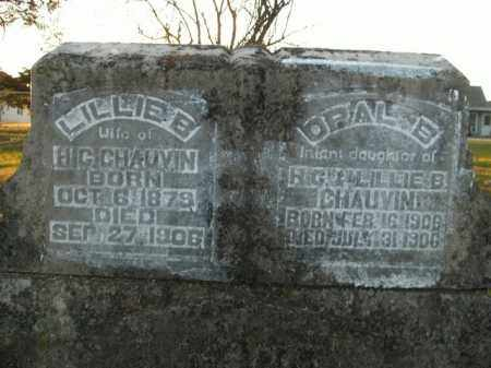 CHAUVIN, LILLIE B. - Boone County, Arkansas | LILLIE B. CHAUVIN - Arkansas Gravestone Photos