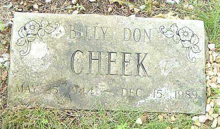 CHEEK, BILLY DON - Boone County, Arkansas | BILLY DON CHEEK - Arkansas Gravestone Photos