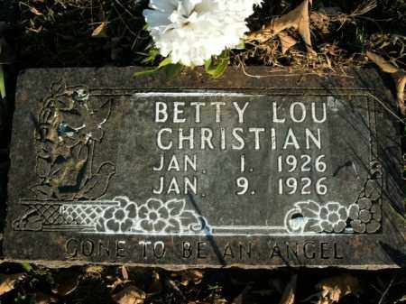 CHRISTIAN, BETTY LOU - Boone County, Arkansas | BETTY LOU CHRISTIAN - Arkansas Gravestone Photos