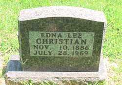 CHRISTIAN, EDNA  LEE - Boone County, Arkansas   EDNA  LEE CHRISTIAN - Arkansas Gravestone Photos