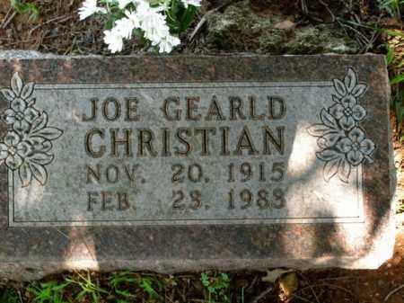 CHRISTIAN, JOE GEARLD - Boone County, Arkansas | JOE GEARLD CHRISTIAN - Arkansas Gravestone Photos