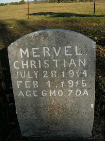CHRISTIAN, MERVEL - Boone County, Arkansas   MERVEL CHRISTIAN - Arkansas Gravestone Photos