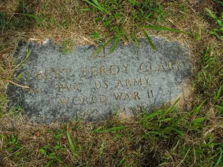 CLARK  (VETERAN WWII), ALBERT LEROY - Boone County, Arkansas | ALBERT LEROY CLARK  (VETERAN WWII) - Arkansas Gravestone Photos