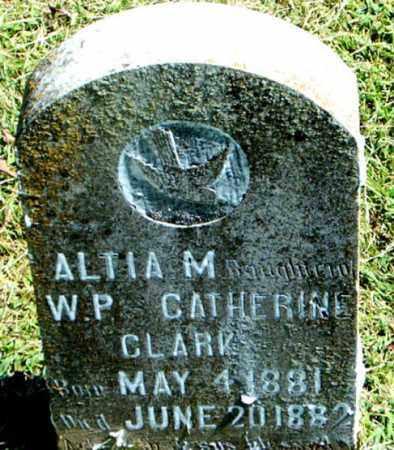 CLARK, ALTIA M. - Boone County, Arkansas | ALTIA M. CLARK - Arkansas Gravestone Photos