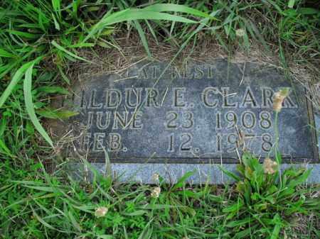 CLARK, HILDUR E. - Boone County, Arkansas | HILDUR E. CLARK - Arkansas Gravestone Photos