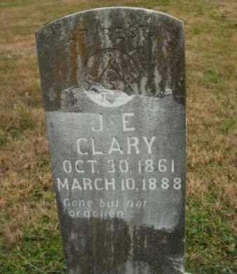 CLARY, J.E. - Boone County, Arkansas | J.E. CLARY - Arkansas Gravestone Photos