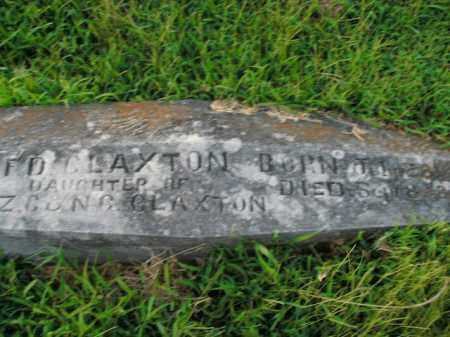 CLAXTON, F.D. - Boone County, Arkansas   F.D. CLAXTON - Arkansas Gravestone Photos