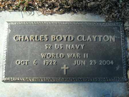 CLAYTON  (VETERAN WWII), CHARLES BOYD - Boone County, Arkansas | CHARLES BOYD CLAYTON  (VETERAN WWII) - Arkansas Gravestone Photos