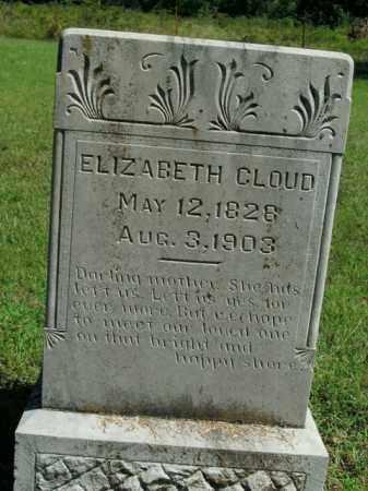 CLOUD, ELIZABETH - Boone County, Arkansas | ELIZABETH CLOUD - Arkansas Gravestone Photos