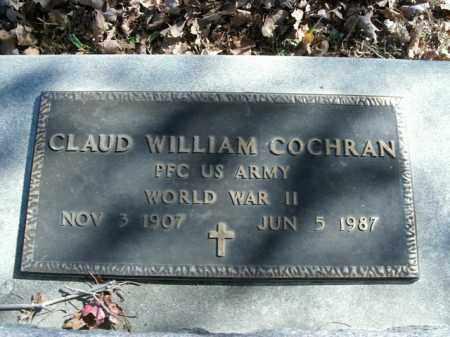 COCHRAN  (VETERAN WWII), CLAUD WILLIAM - Boone County, Arkansas | CLAUD WILLIAM COCHRAN  (VETERAN WWII) - Arkansas Gravestone Photos
