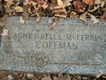COFFMAN, AGNES BELLE - Boone County, Arkansas   AGNES BELLE COFFMAN - Arkansas Gravestone Photos