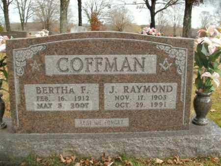COFFMAN, BERTHA F. - Boone County, Arkansas | BERTHA F. COFFMAN - Arkansas Gravestone Photos