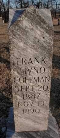 COFFMAN, FRANK TIVNO - Boone County, Arkansas | FRANK TIVNO COFFMAN - Arkansas Gravestone Photos