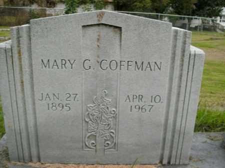 COFFMAN, MARY G. - Boone County, Arkansas | MARY G. COFFMAN - Arkansas Gravestone Photos