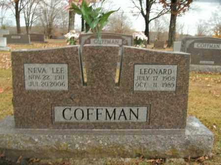 COFFMAN, NEVA LEE - Boone County, Arkansas | NEVA LEE COFFMAN - Arkansas Gravestone Photos