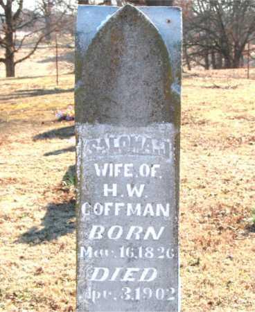 COFFMAN, SALOMA  JANE - Boone County, Arkansas   SALOMA  JANE COFFMAN - Arkansas Gravestone Photos