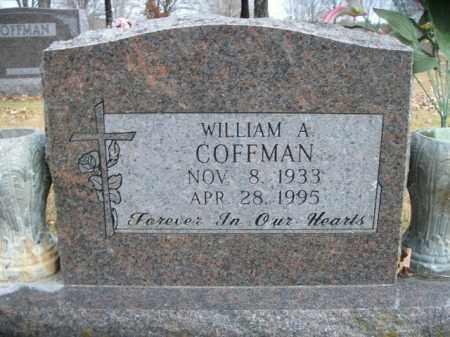 COFFMAN, WILLIAM A. - Boone County, Arkansas | WILLIAM A. COFFMAN - Arkansas Gravestone Photos