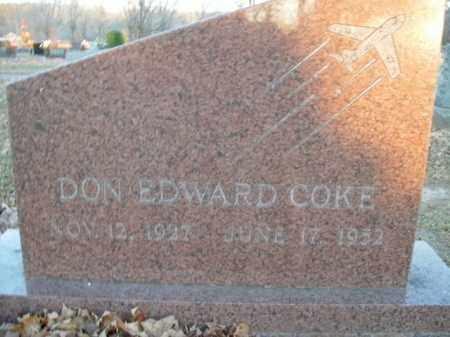 COKE, DON EDWARD - Boone County, Arkansas | DON EDWARD COKE - Arkansas Gravestone Photos