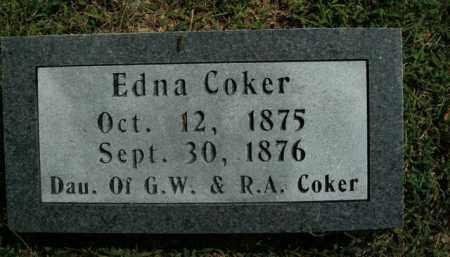 COKER, EDNA - Boone County, Arkansas | EDNA COKER - Arkansas Gravestone Photos