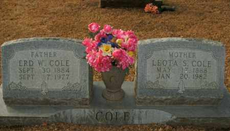 COLE, ERD W. - Boone County, Arkansas | ERD W. COLE - Arkansas Gravestone Photos