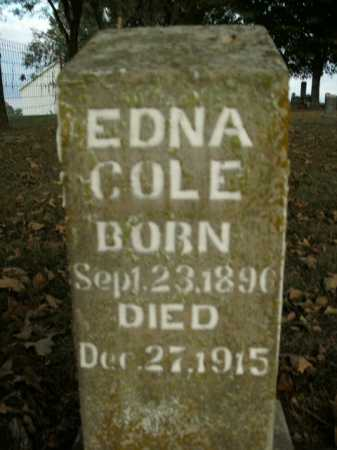COLE, EDNA - Boone County, Arkansas | EDNA COLE - Arkansas Gravestone Photos