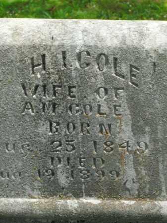 COLE, H. I. - Boone County, Arkansas | H. I. COLE - Arkansas Gravestone Photos