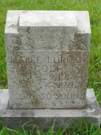 COLE, MABLE LOREAN - Boone County, Arkansas | MABLE LOREAN COLE - Arkansas Gravestone Photos