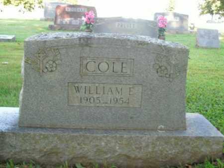 COLE, WILLIAM E. - Boone County, Arkansas   WILLIAM E. COLE - Arkansas Gravestone Photos