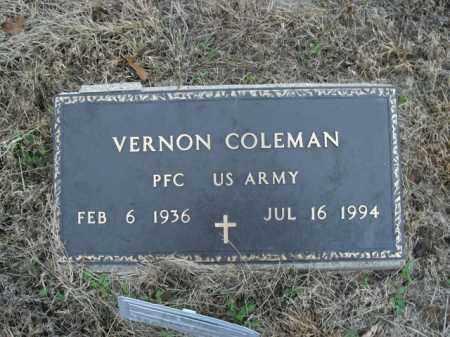 COLEMAN  (VETERAN), VERNON - Boone County, Arkansas   VERNON COLEMAN  (VETERAN) - Arkansas Gravestone Photos