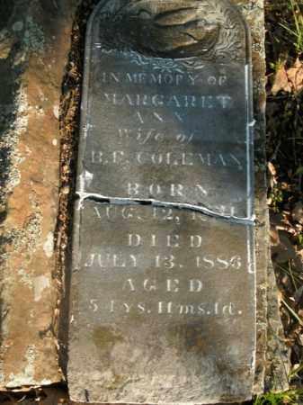 COLEMAN, MARGARET ANN - Boone County, Arkansas | MARGARET ANN COLEMAN - Arkansas Gravestone Photos