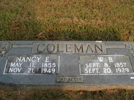 COLEMAN, W. B. - Boone County, Arkansas | W. B. COLEMAN - Arkansas Gravestone Photos