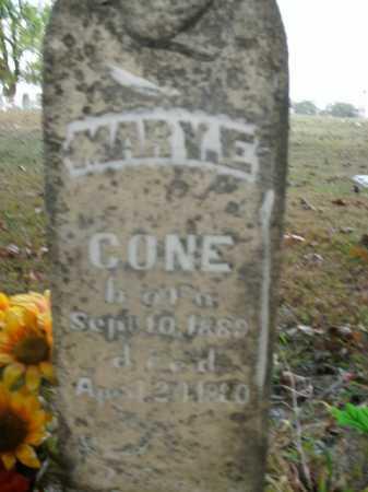 CONE, MARY E. - Boone County, Arkansas | MARY E. CONE - Arkansas Gravestone Photos