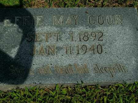 COOK, EFFIE MAY - Boone County, Arkansas | EFFIE MAY COOK - Arkansas Gravestone Photos