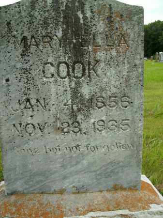COOK, MARY ELLA - Boone County, Arkansas   MARY ELLA COOK - Arkansas Gravestone Photos