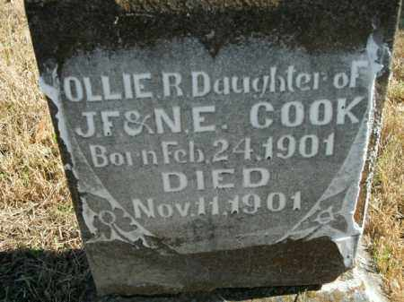 COOK, OLLIE R. - Boone County, Arkansas   OLLIE R. COOK - Arkansas Gravestone Photos