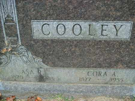 COOLEY, ASA R. - Boone County, Arkansas | ASA R. COOLEY - Arkansas Gravestone Photos