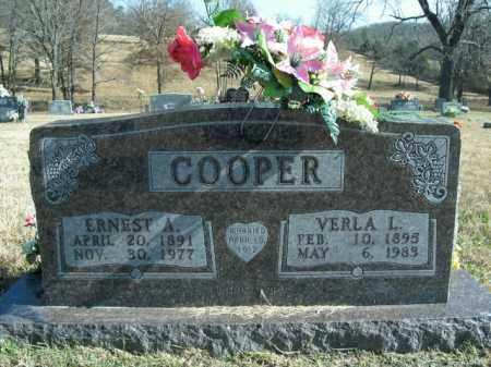 COOPER, ERNEST ABRAHAM - Boone County, Arkansas   ERNEST ABRAHAM COOPER - Arkansas Gravestone Photos
