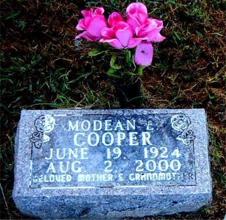 COOPER, MODEAN E. - Boone County, Arkansas | MODEAN E. COOPER - Arkansas Gravestone Photos