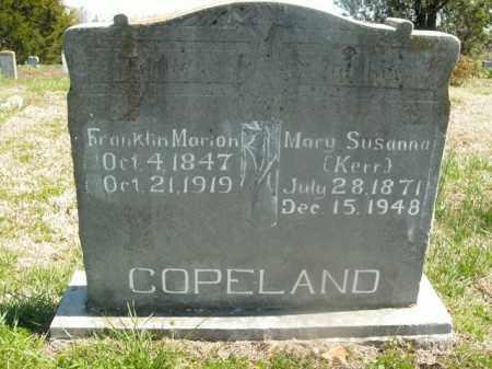 KERR COPELAND, MARY SUSANNA - Boone County, Arkansas | MARY SUSANNA KERR COPELAND - Arkansas Gravestone Photos