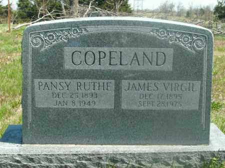 COPELAND, JAMES VIRGIL - Boone County, Arkansas | JAMES VIRGIL COPELAND - Arkansas Gravestone Photos