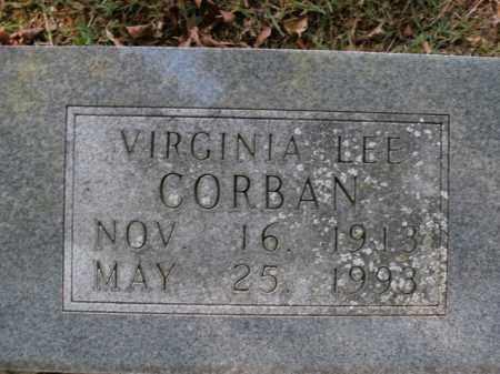 CORBAN, VIRGINIA LEE - Boone County, Arkansas | VIRGINIA LEE CORBAN - Arkansas Gravestone Photos