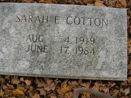 COTTON, SARAH E. - Boone County, Arkansas | SARAH E. COTTON - Arkansas Gravestone Photos