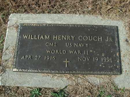 COUCH, JR  (VETERAN WWII), WILLIAM HENRY - Boone County, Arkansas | WILLIAM HENRY COUCH, JR  (VETERAN WWII) - Arkansas Gravestone Photos