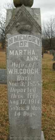 COUCH, MARTHA ANN - Boone County, Arkansas | MARTHA ANN COUCH - Arkansas Gravestone Photos