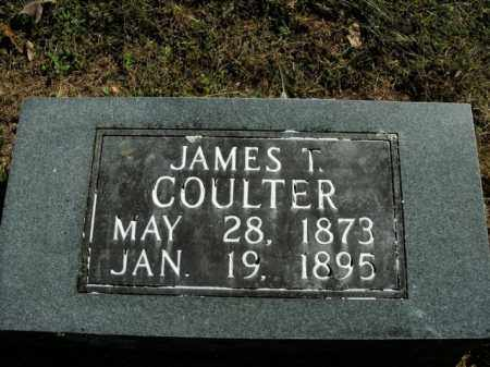 COULTER, JAMES T. - Boone County, Arkansas | JAMES T. COULTER - Arkansas Gravestone Photos