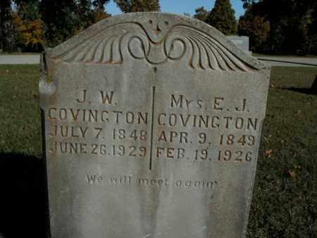 COVINGTON, E.J. - Boone County, Arkansas | E.J. COVINGTON - Arkansas Gravestone Photos