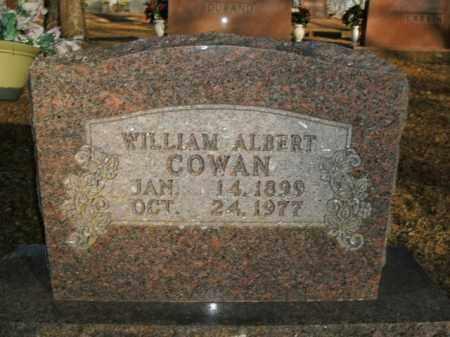 COWAN, WILLIAM ALBERT - Boone County, Arkansas | WILLIAM ALBERT COWAN - Arkansas Gravestone Photos