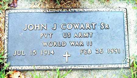 COWART,  SR.  (VETERAN WWII), JOHN J - Boone County, Arkansas   JOHN J COWART,  SR.  (VETERAN WWII) - Arkansas Gravestone Photos