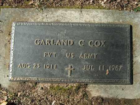 COX  (VETERAN), GARLAND C - Boone County, Arkansas | GARLAND C COX  (VETERAN) - Arkansas Gravestone Photos