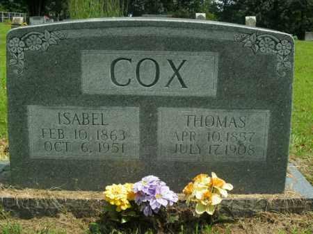 COX, ISABEL - Boone County, Arkansas   ISABEL COX - Arkansas Gravestone Photos